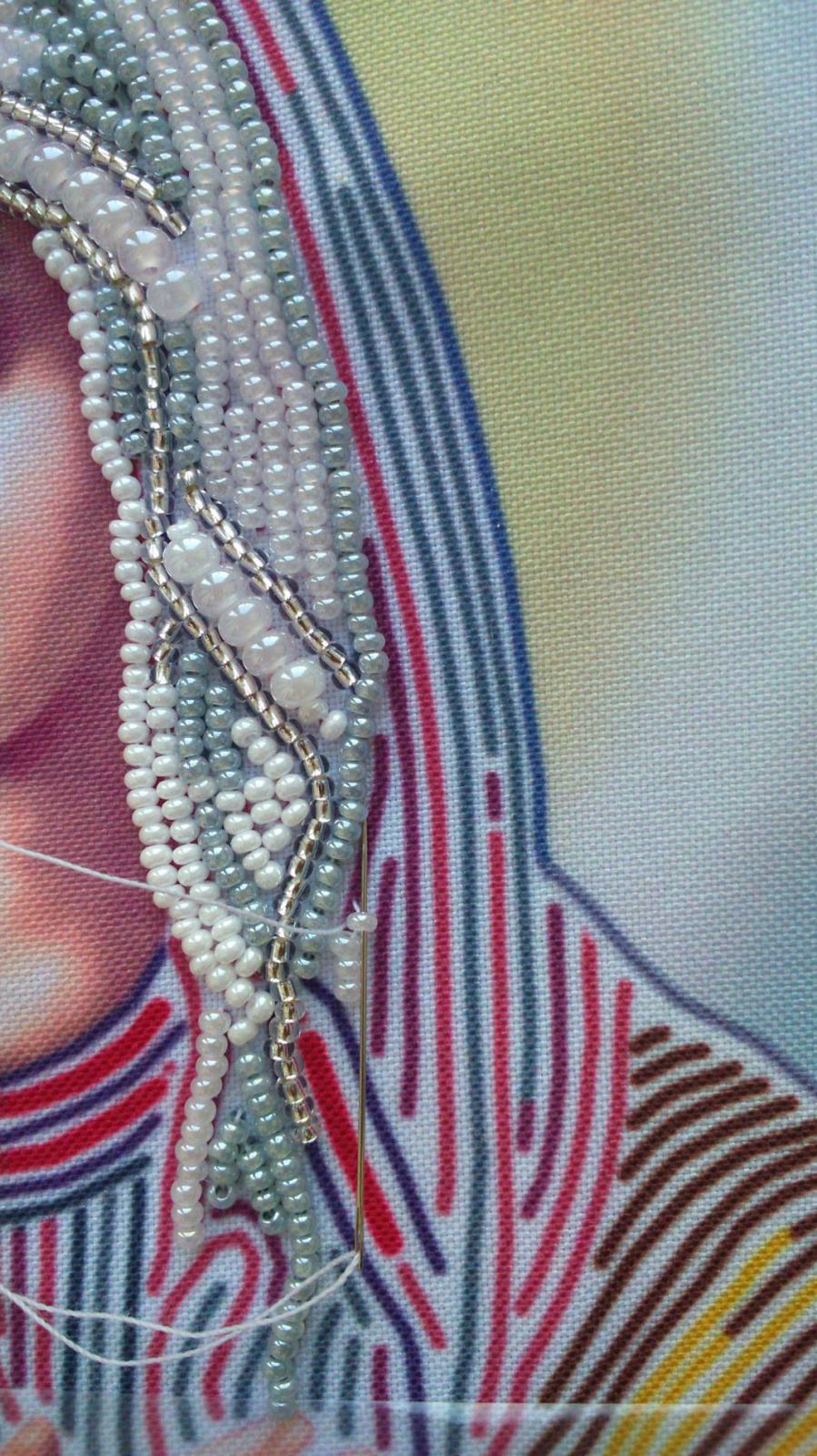 Вышивка бисером вприкреп на проволоке 94