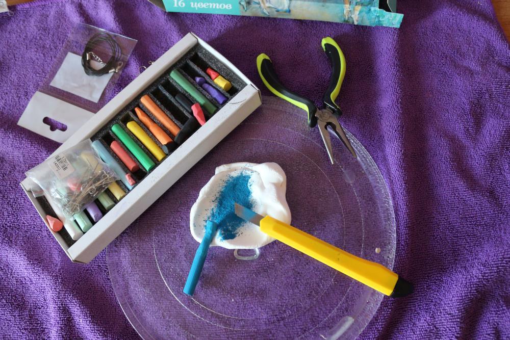 Полимерная глина для окрашивания