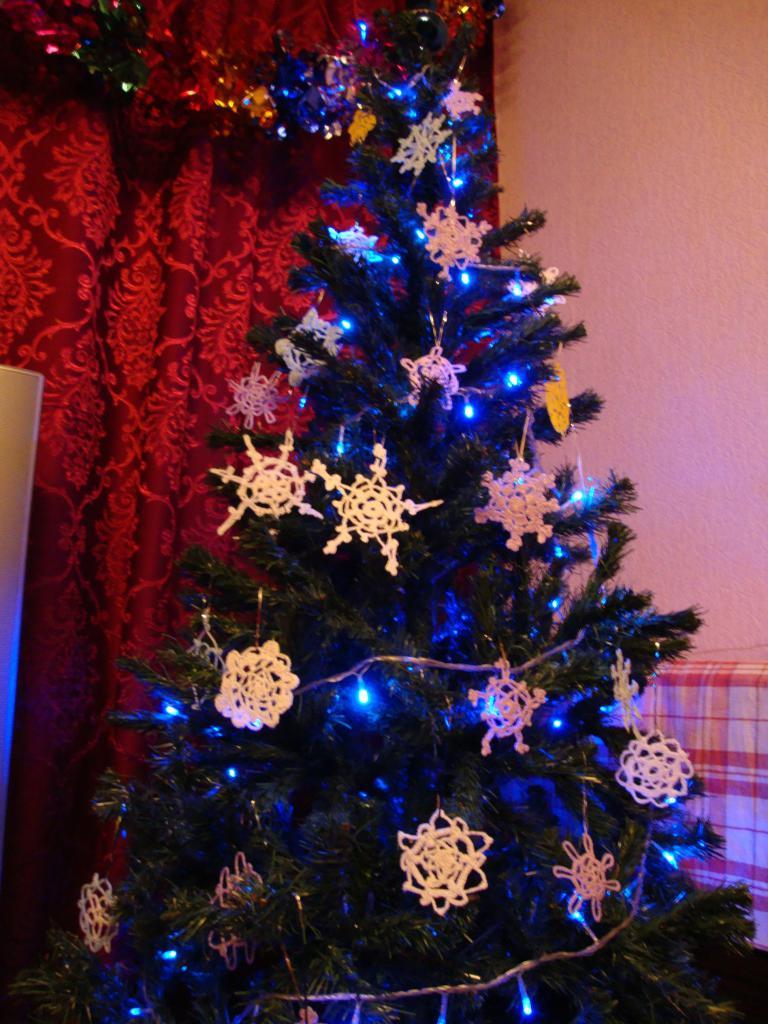 Большая снежинка на елку