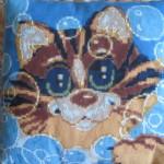 Подушка Кот в пузырях