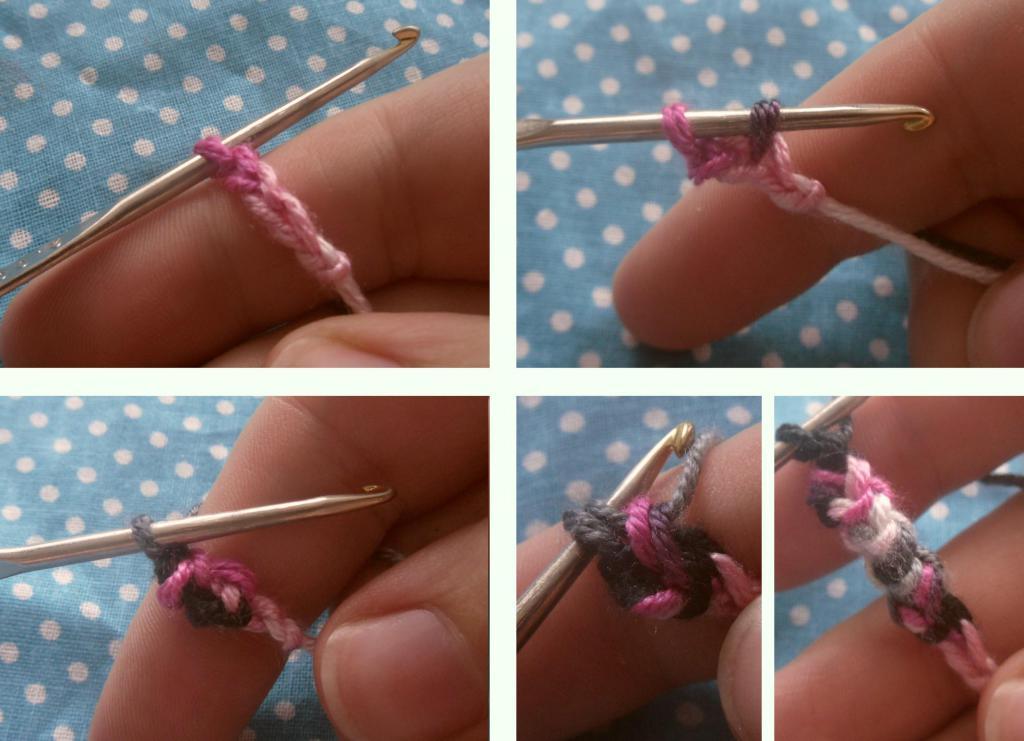 Вязание нитки на крючок 42