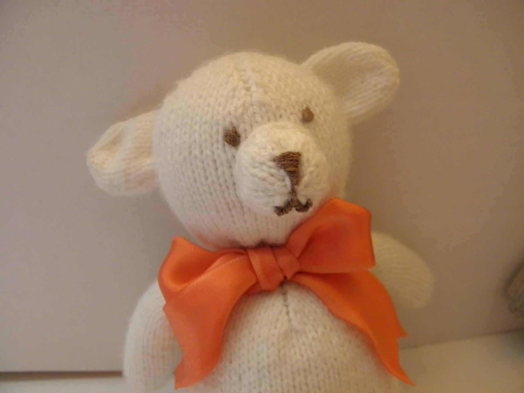 Вязание игрушки медведя спицами