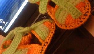 сандалики вязаные крючком