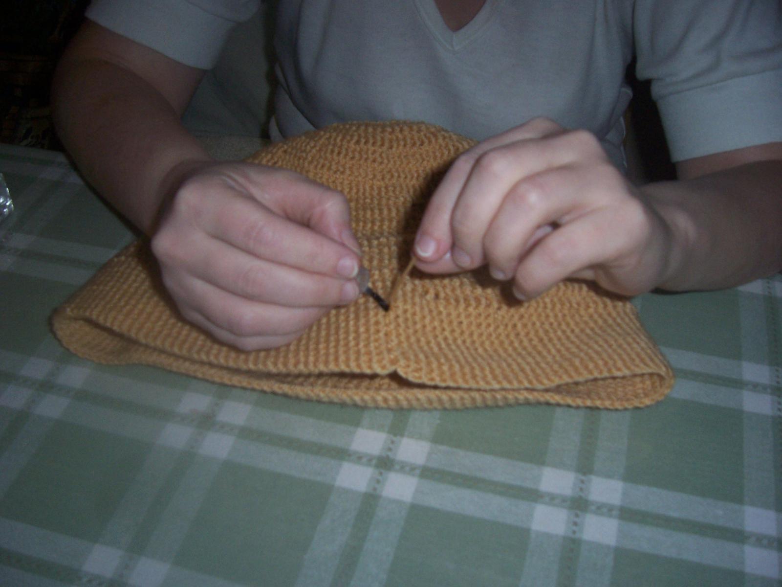 Как убрать хвостики от вязания